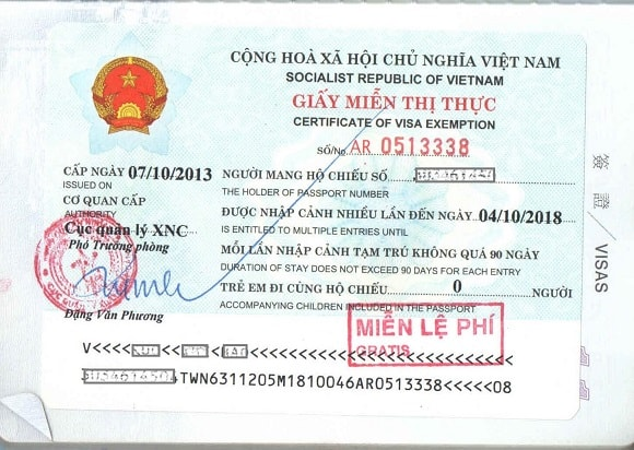 5 year Vietnam visa exemption