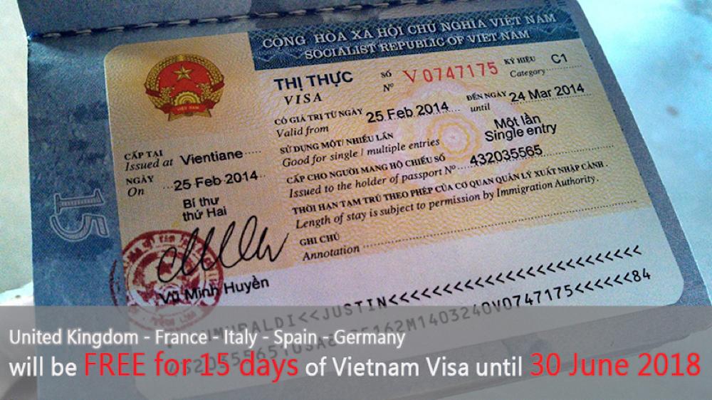 vietnam visa exemption for 5 european countries